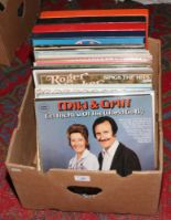 Lot 88 - A box of mainly easy listening L.P records.