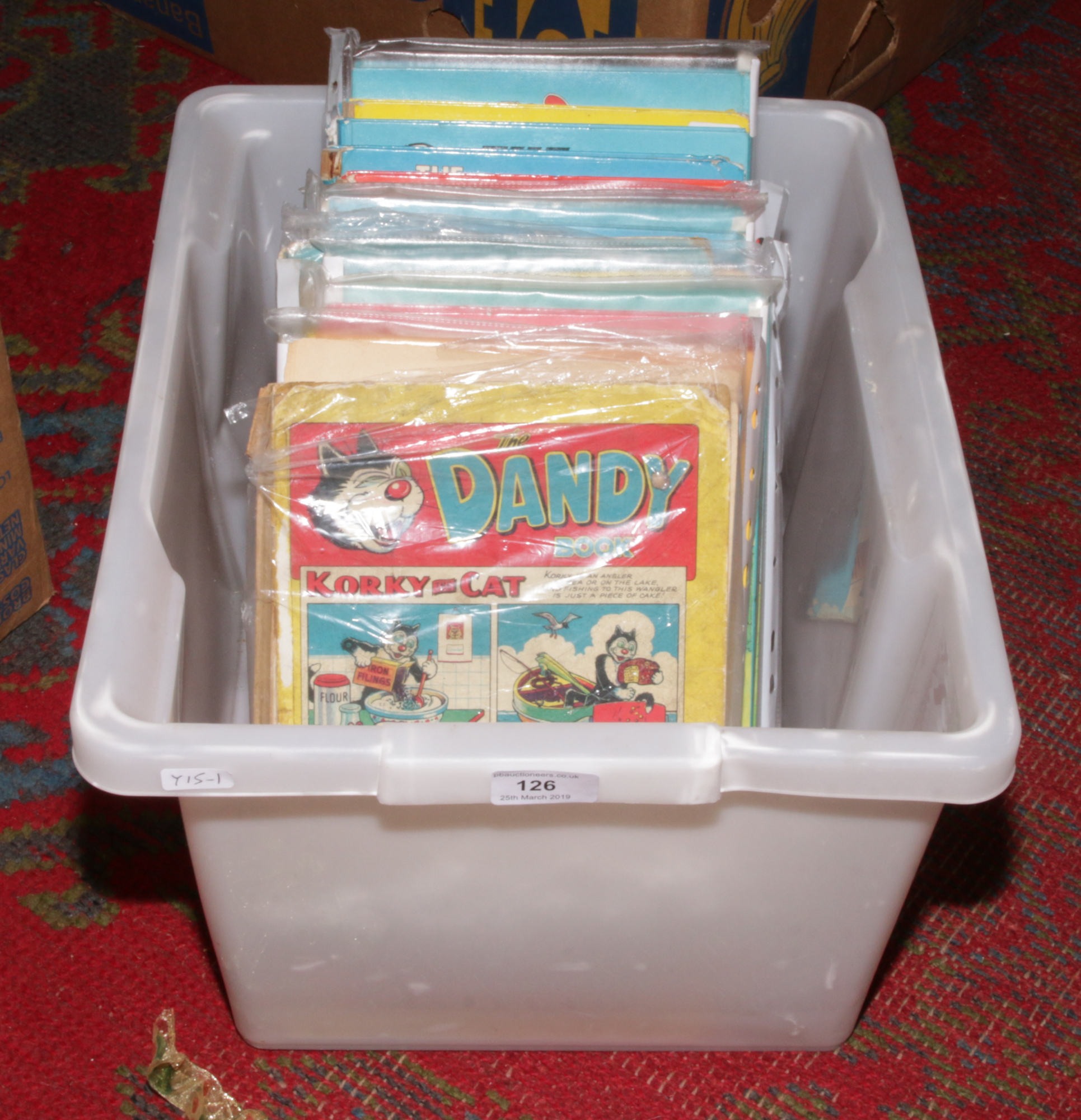 Lot 126 - Thirteen Beano and Dandy annuals ranging from 1958 to 1998.