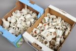 Lot 34 - Two boxes of crested china to include Arcadian, Corona, Carlton ware and Longtons willow art