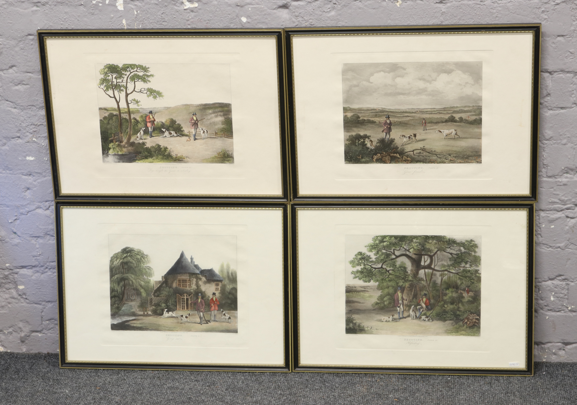 Lot 76 - A set of four antique hunting prints after Wolstenholme and engraved by T. Sutherland.
