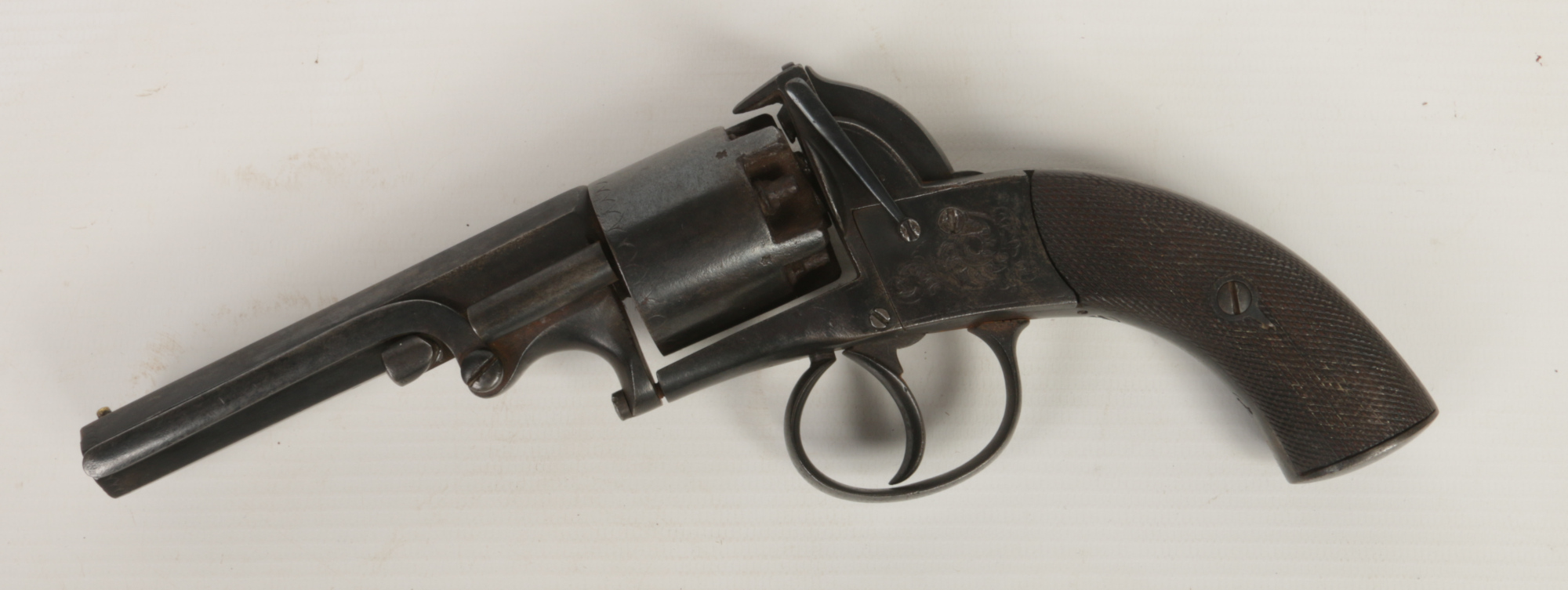 Lot 273 - A five shot service revolver of Bentley type. With octagonal barrel and knurled scales c.1880.