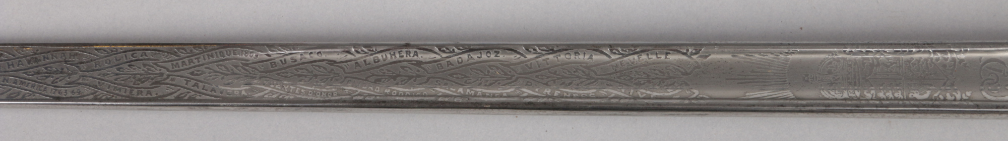 Lot 268 - A George V 1827 pattern Royal Rifle Corps. Officers sword by Wilkinson Sword, London. With etched
