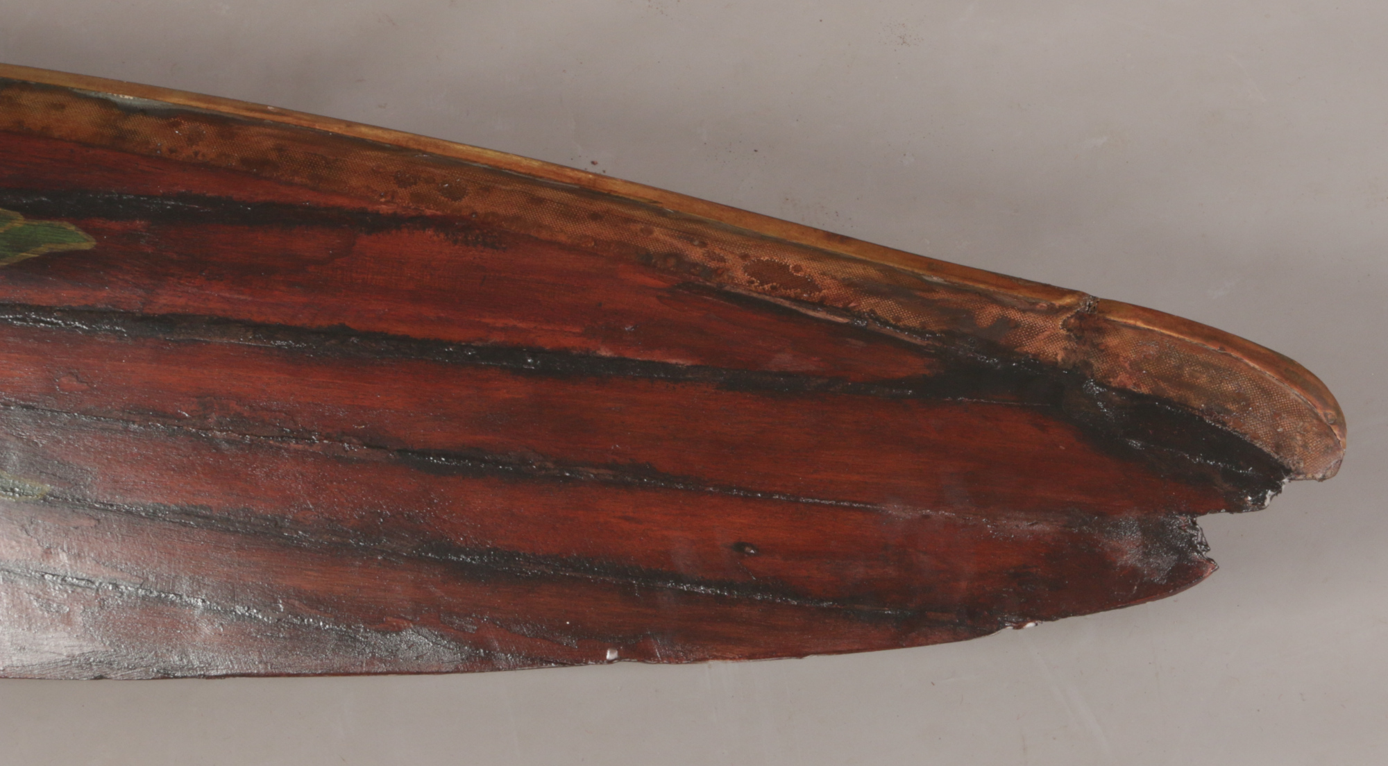 Lot 245 - A World War II RAF wooden propeller from a Hawker Swordfish bi-plane. Metal and canvas edging and