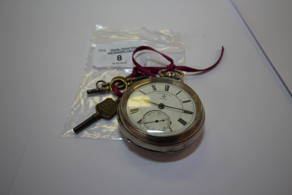 Lot 8 - Silver Cased Rotherams Pocket Watch (Inscribed Board School, Kirkby Thore)