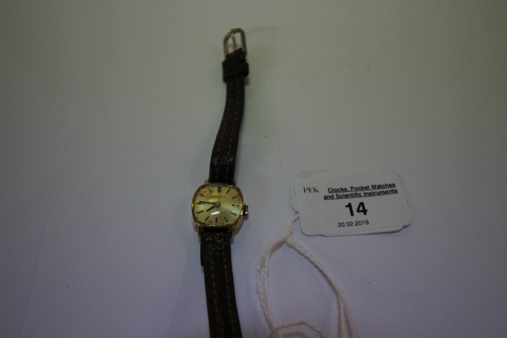 Lot 14 - Everite plated gold cased ladies watch