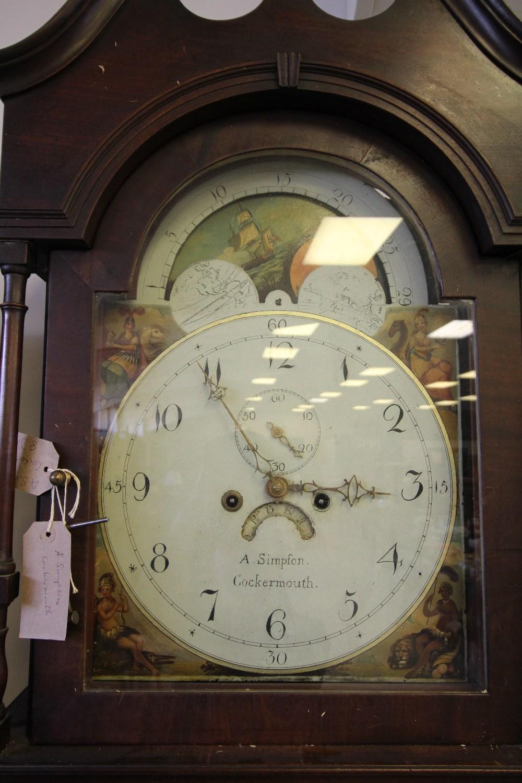 Lot 57 - Longcase Clock - A Simpson, Cockermouth
