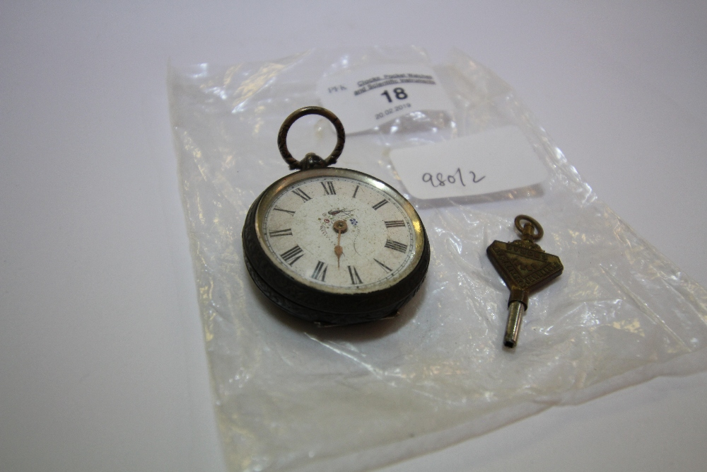 Lot 18 - 19th century silver ladies pocket watch