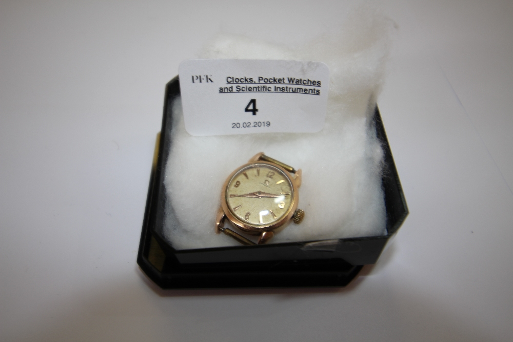 Lot 4 - 1950's/1960's ladies or boys Omega gold plated cased wristwatch, movement No. 14466387 (watch runs