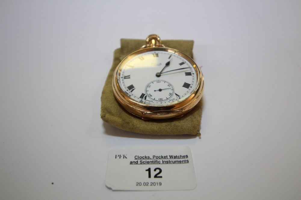 Lot 12 - Gold Plated Limit Pocket Watch
