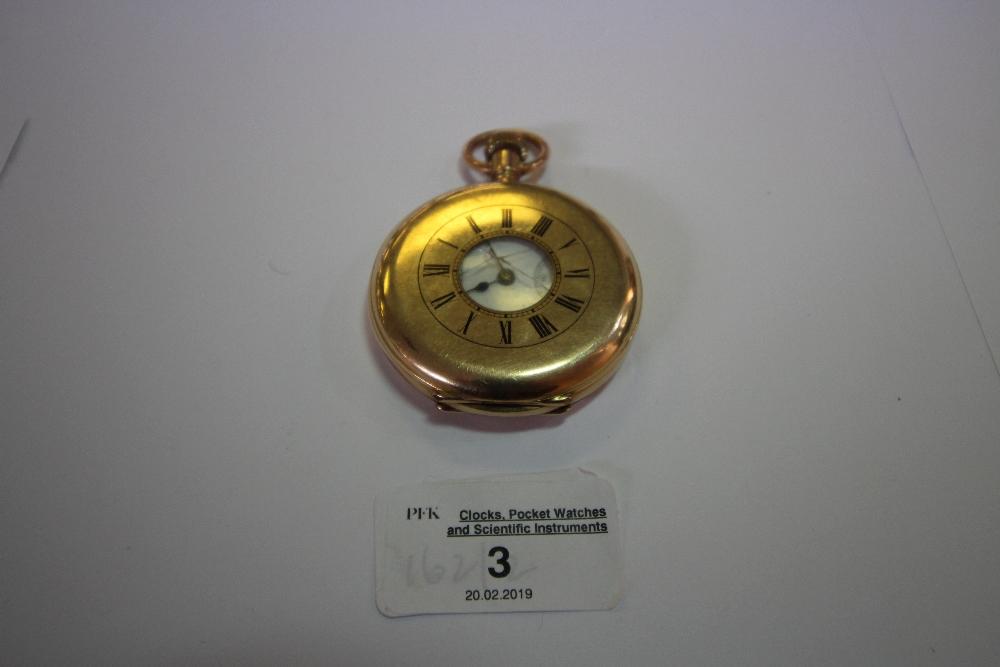 Lot 3 - 10ct Gold Cased Half Hunter Waltham Pocket Watch