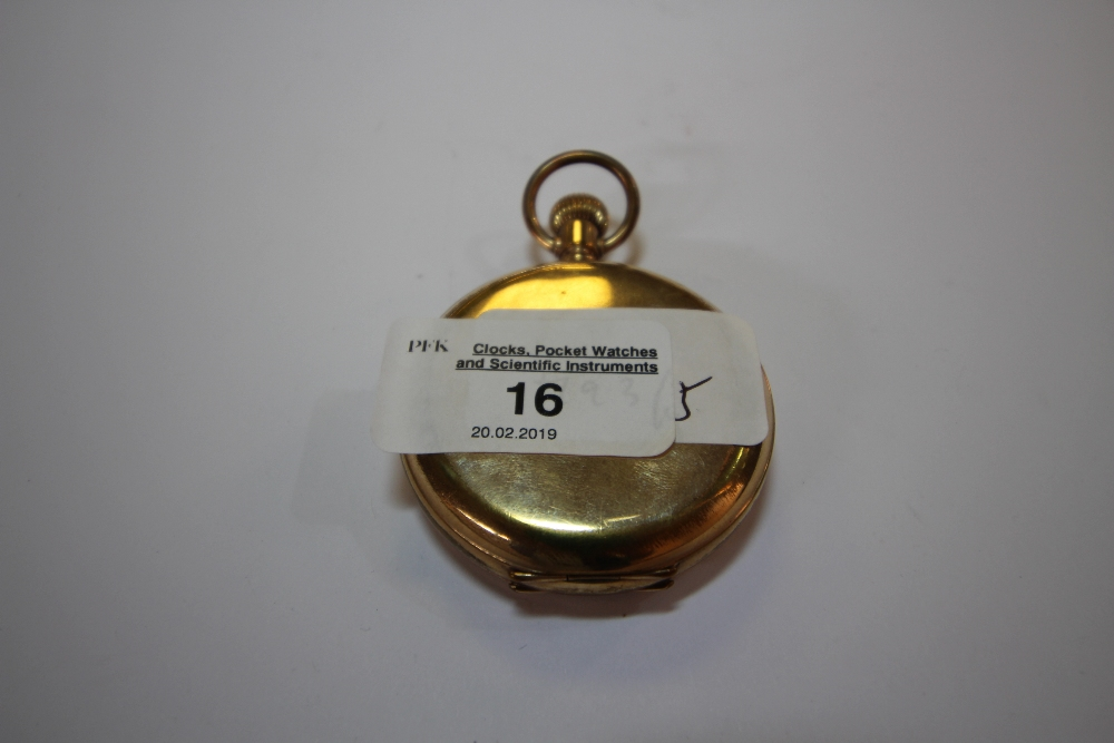 Lot 16 - Elgin gold plated pocket watch