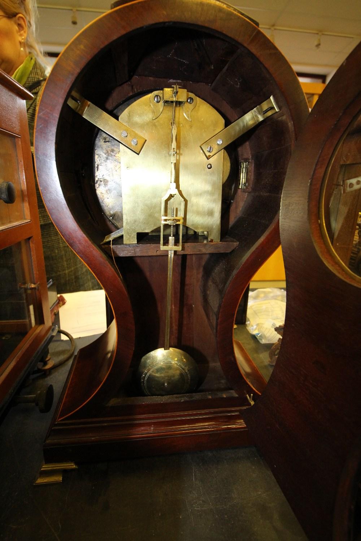 Lot 52 - George IV Mahogany 'Balloon' Bracket Clock by Ezekiel, with Mahogany Bracket, original Key & Winding
