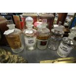 Lot 47 - 5 Apothecary Bottles