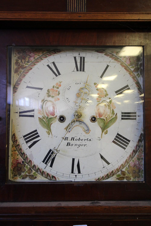 Lot 58 - R Roberts - Banger, Oak & Mahogany Long Case Clock 8 Day