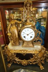 Lot 50 - Early C19th French Ormalu Clock with Porcelain Dial