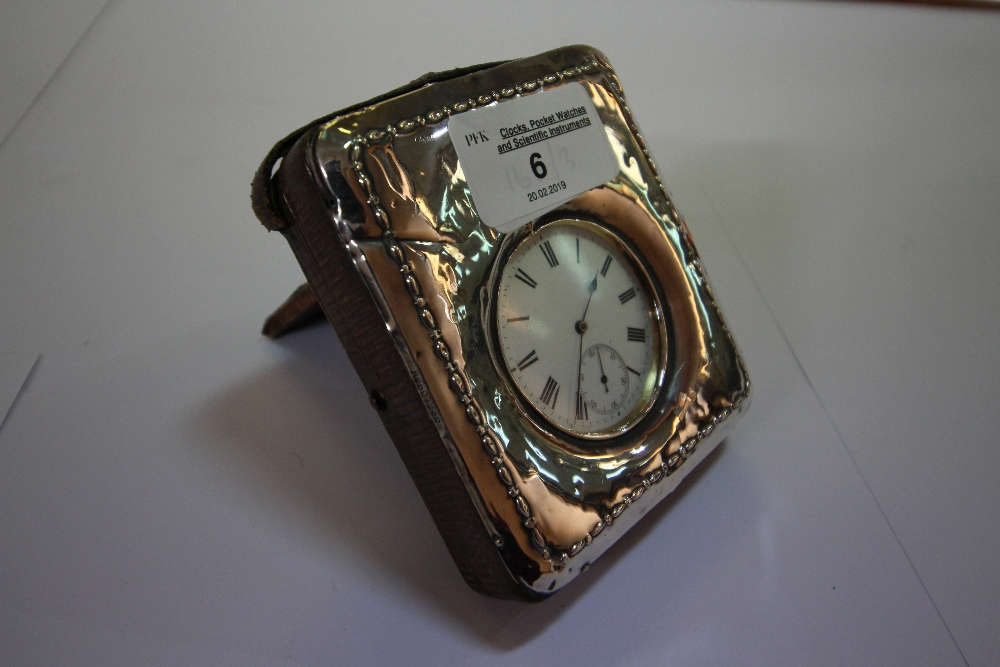 Lot 6 - 18ct Gold Cased Open Faced Pocket Watch & Silver Case