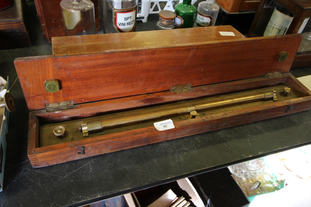 Lot 26 - Brass 'Excel Spacer' Rule by Thornton, Cased