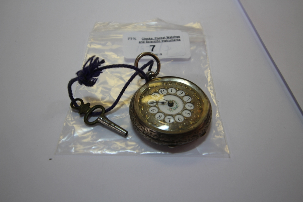 Lot 7 - Silver Cased Fob Watch