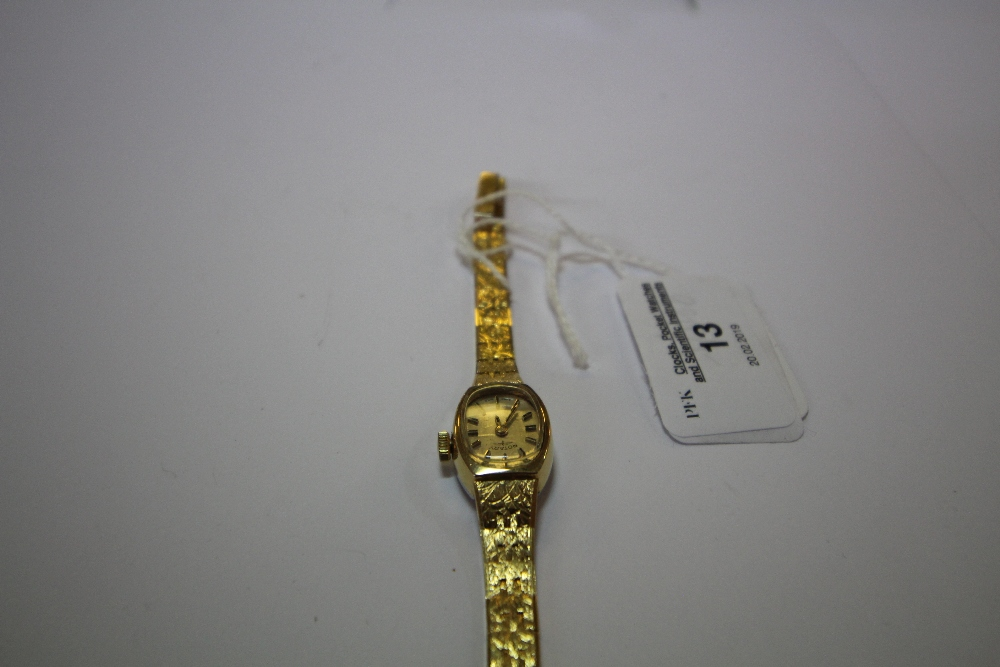 Lot 13 - Rotary gold-plated ladies watch