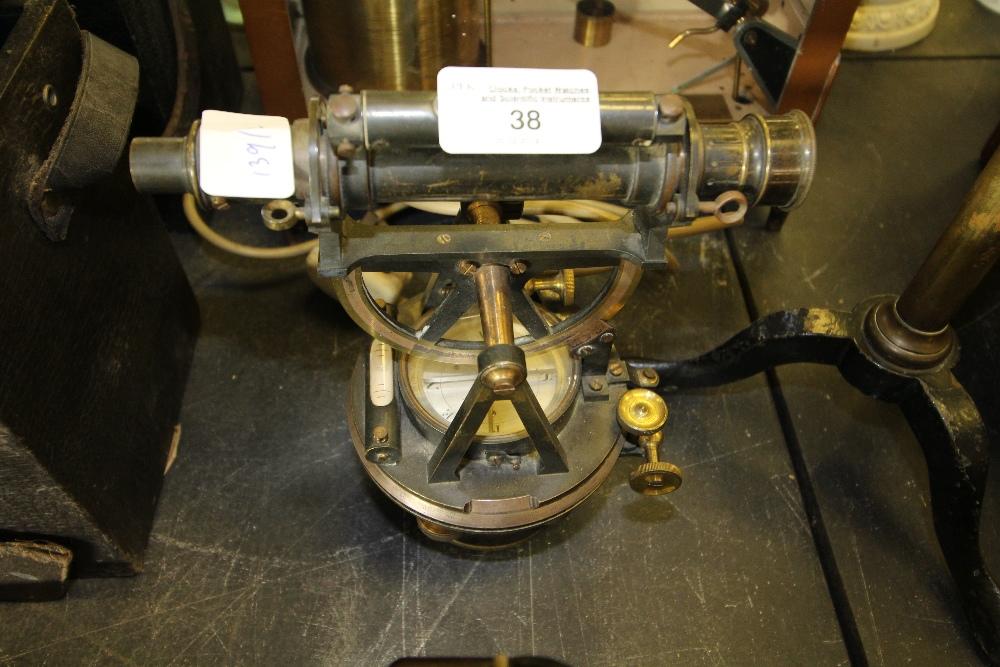 Lot 38 - C19th Brass Theodolite