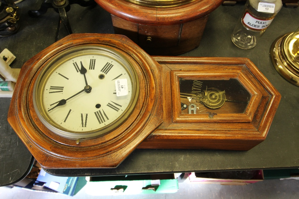 Lot 41 - Small American Drop Dial Wall Clock