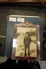 Lot 37 - 55600 Longmire D S Royal Canadian Air Force Pilots Log Book 1944-45 & Framed Photograph