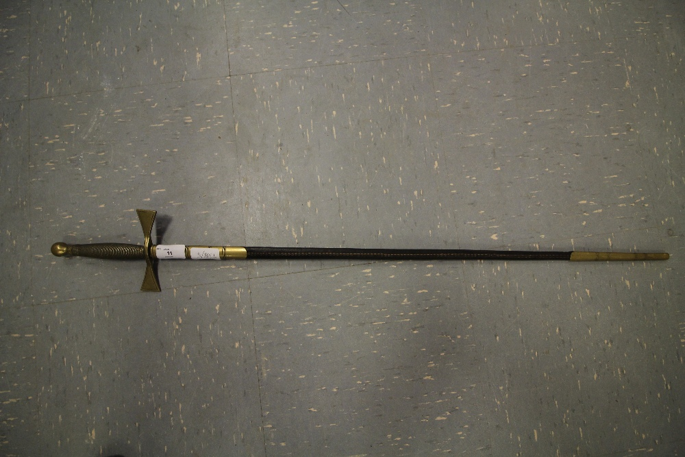 Lot 11 - Dress Sword with brass detail