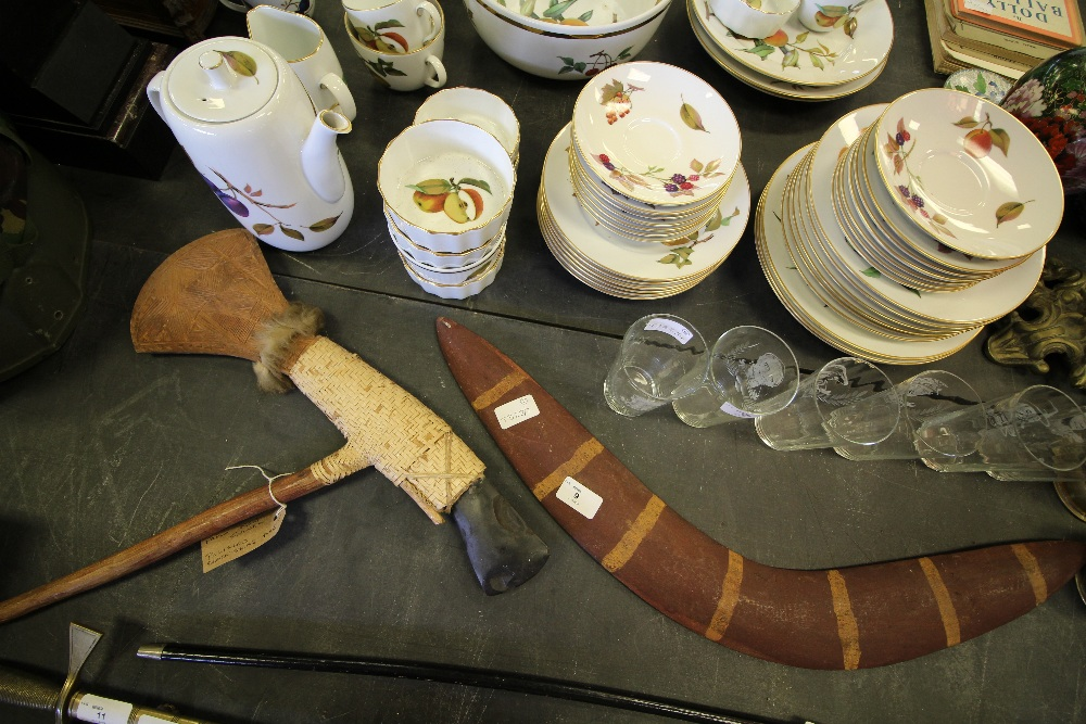 Lot 9 - Papua New Guinea Axe & Boomerang