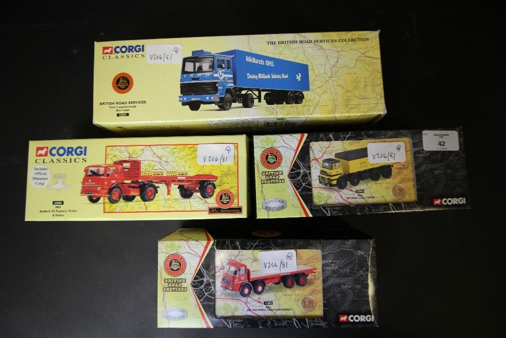 Lot 42 - Corgi Classics British Road Services 22501, 23901, 23001, 11803