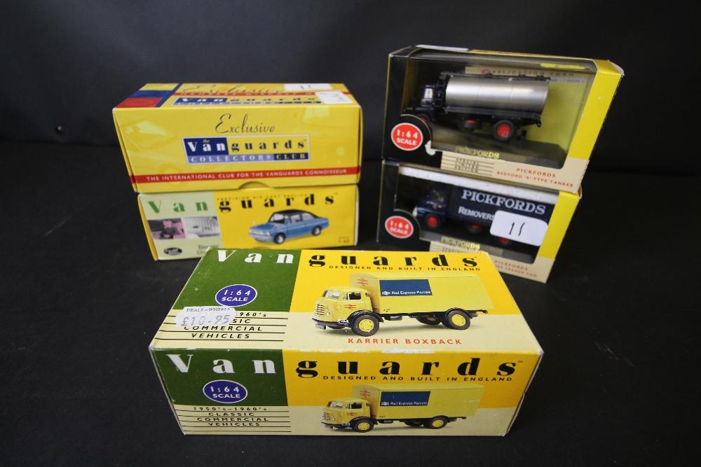 Lot 11 - Vanguards VA6003, VA24000, VA40001, VA7002, VA11204 (Collector's Club Model)