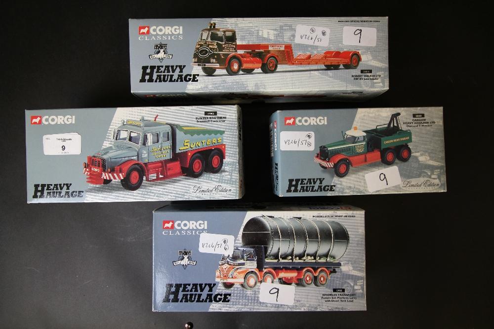 Lot 9 - Corgi Classics Heavy Haulage 55603, 13902, 31011, 17902
