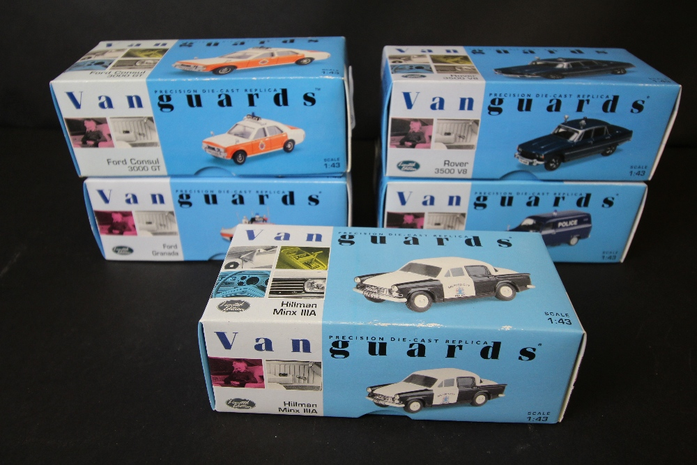 Lot 5 - 5 Vanguards Police Cars VA06801,VA06501, VA05203, VA06605, VA55000