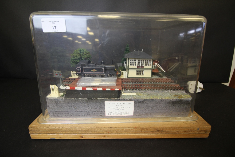 Lot 17 - Model of Culgaith signal box and track (Toy Sale)