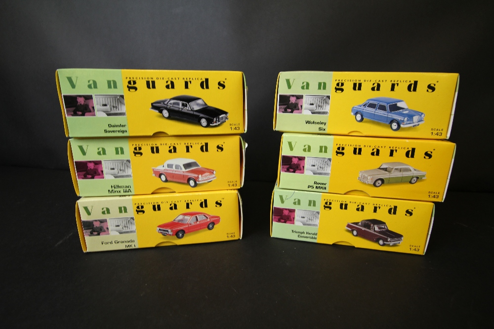 Lot 8 - 6 Vanguards model cars, VA07400, VA52000, VA08500, VA08800, VA06900, VA06800