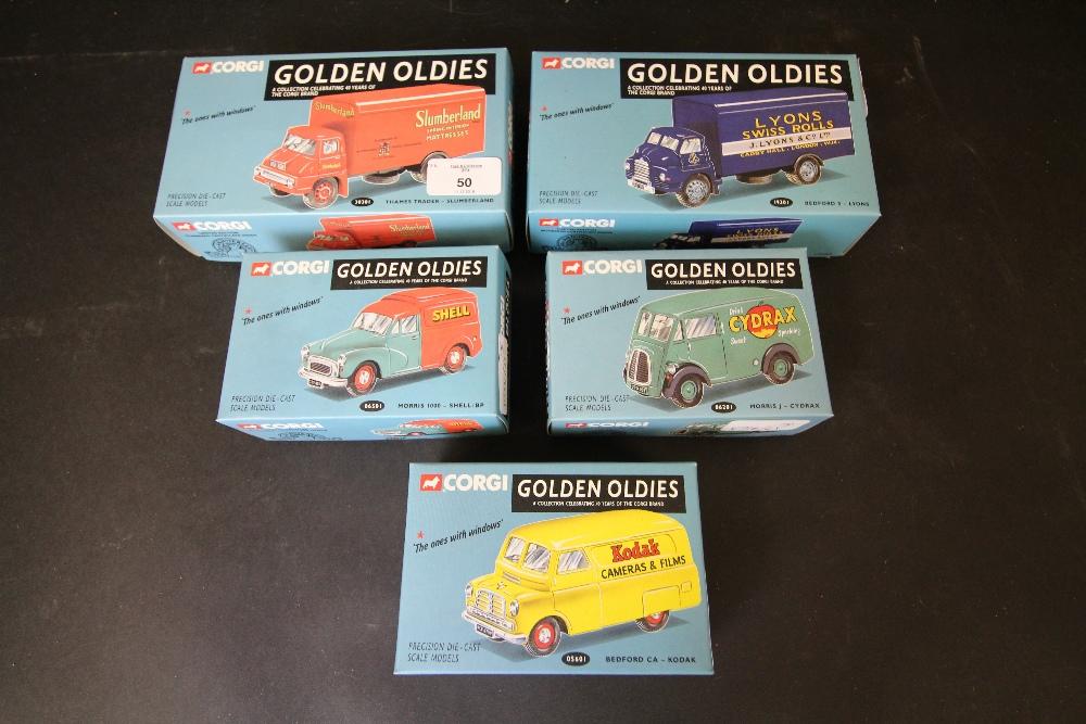 Lot 50 - Corgi 40th Anniversary 'Golden Oldies' 05601, 06501, 06201, 30301, 19301