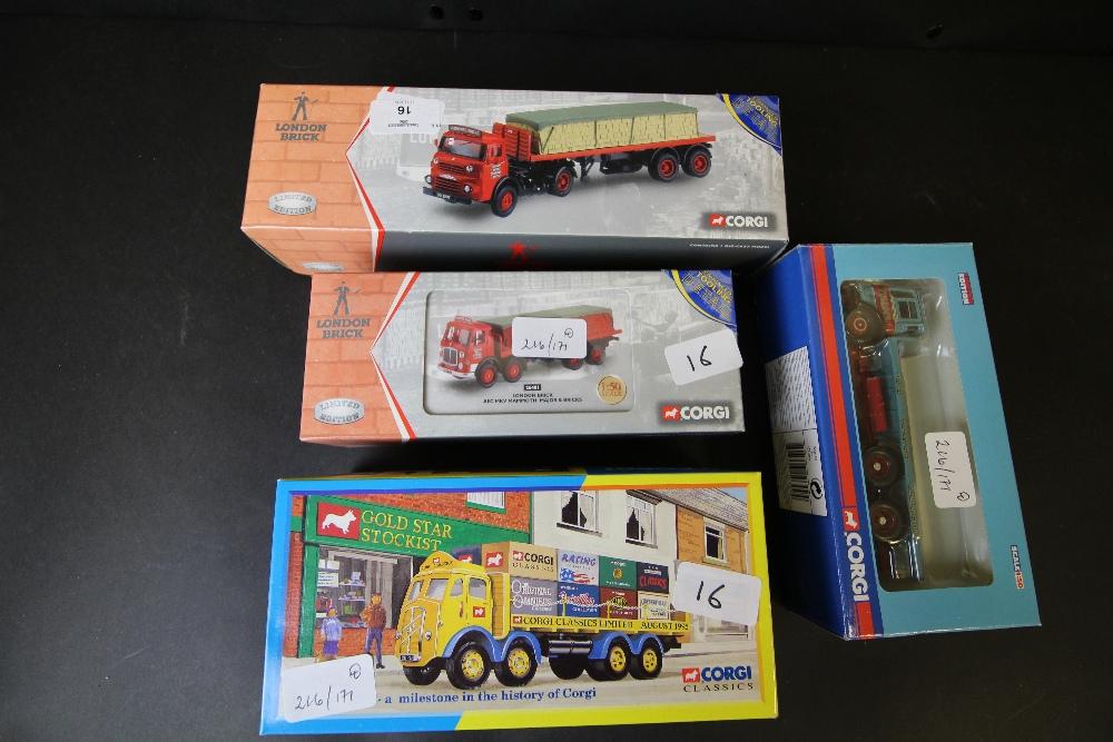 Lot 16 - Corgi London Brick 23801, 26401, and Corgi Classics 10309, Corgi Classics 09802
