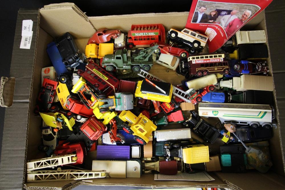 Lot 25 - Box of Lledo, Matchbox, Corgi diecast vehicles - unboxed