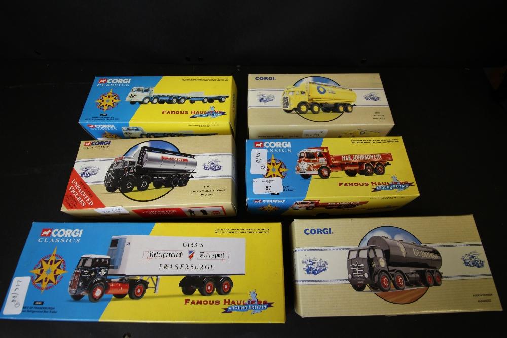 Lot 57 - Corgi Classics Famous Hauliers 14001, 28201, 11301, Commercials 97950, Road Transport 97930, 97372