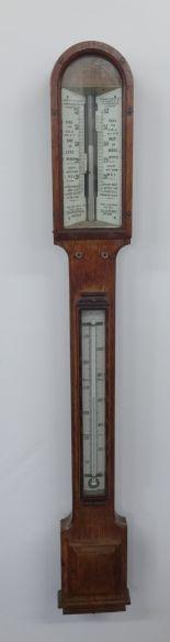 Lot 151 - A 19th century stick barometer by Negretti and Zambra, Holborn Viaduct, London, height 100cm.