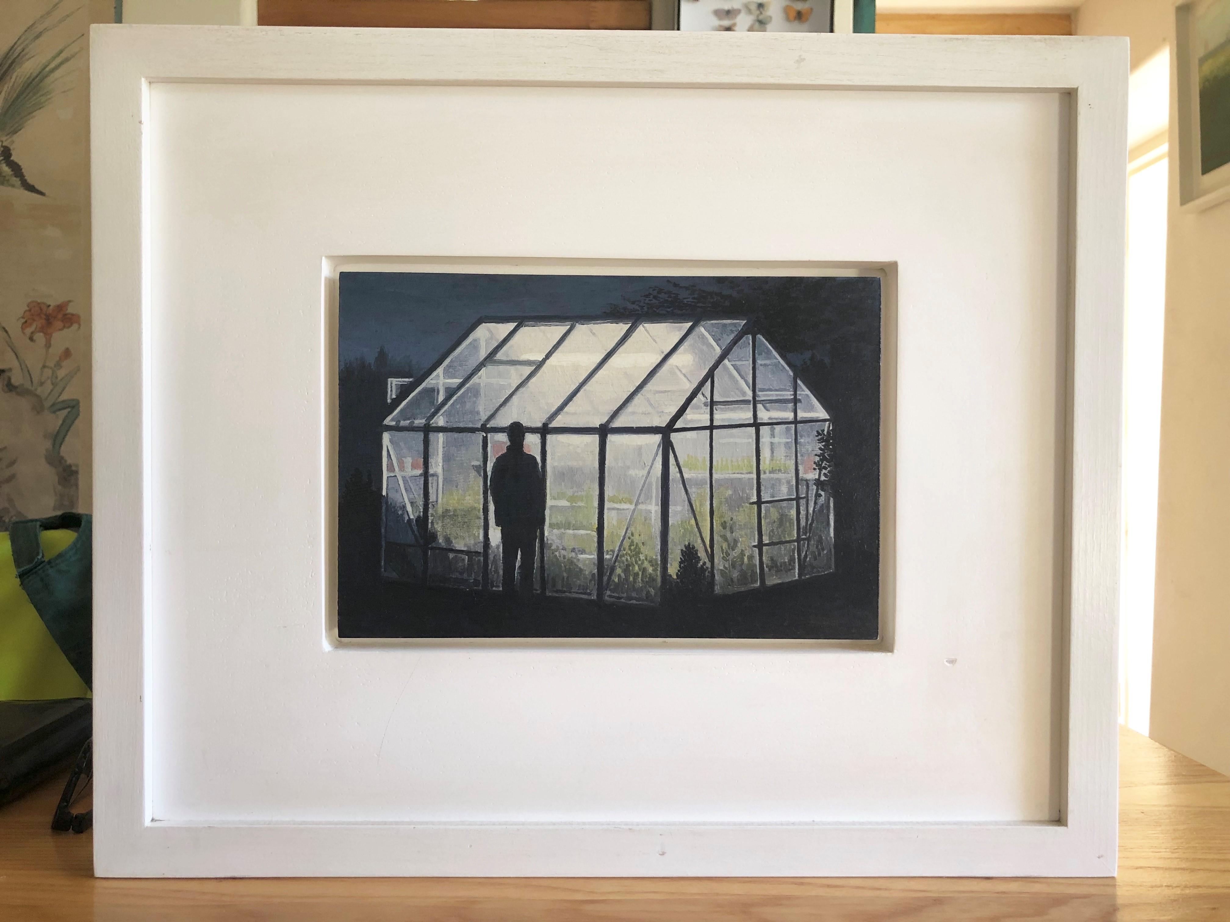 Lot 044 - Barry McGlashan (Scottish b.1974) oil on pane 'Looking Glass House', 115cm x 22cm, Provenance,