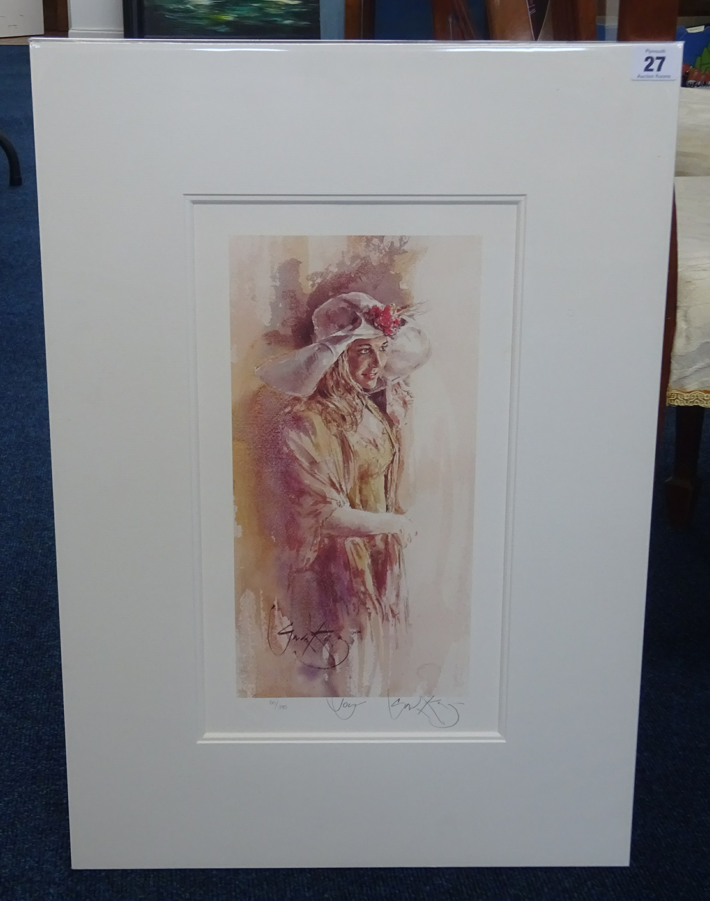 Lot 027 - Gordon King (b.1939) two limited edition prints including 'Joy' 80/395 and 'Grandfathers Tales'