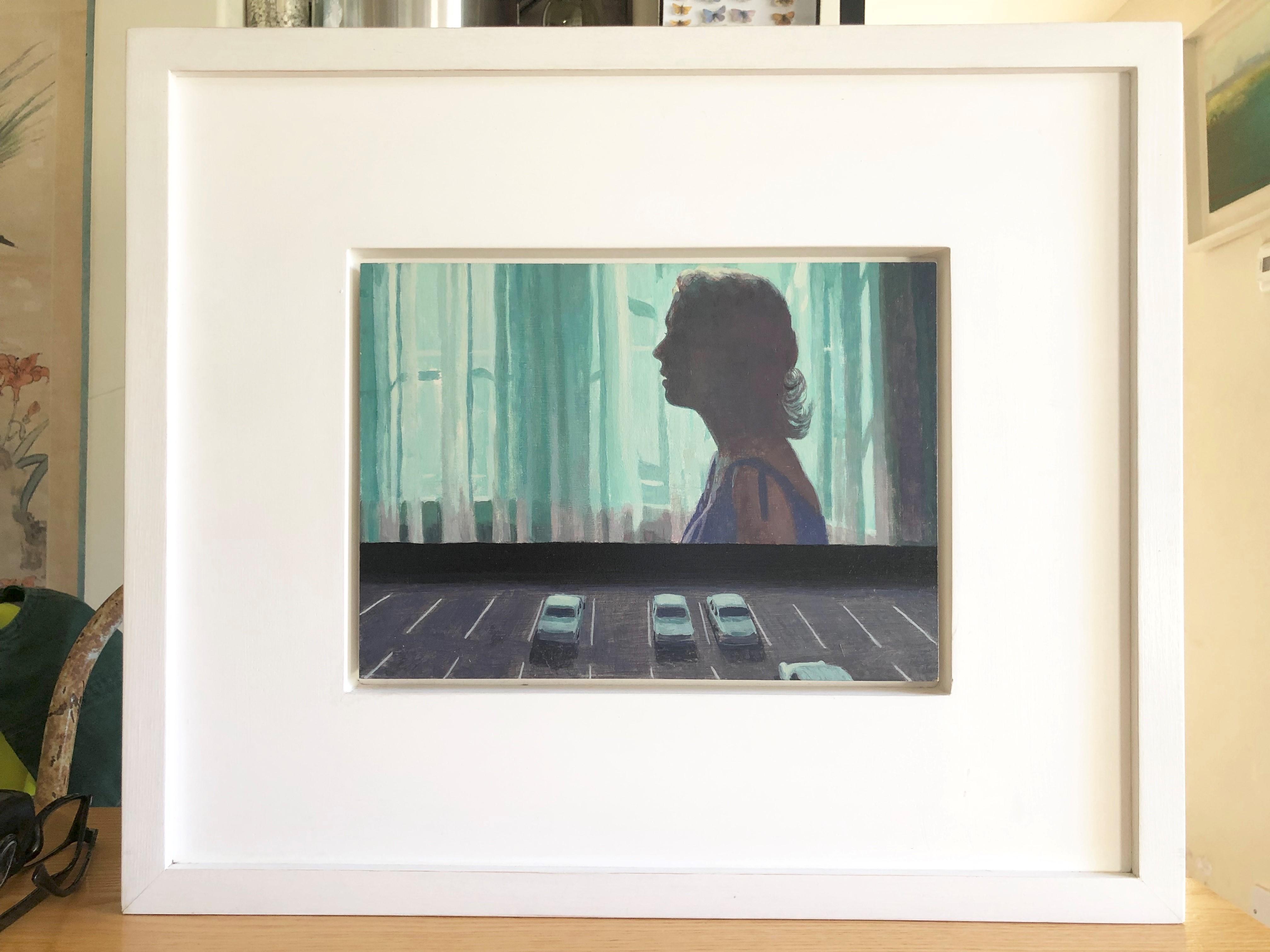 Lot 043 - Barry McGlashan (Scottish b.1974) oil on panel 'Drive In (1)' 20cm x 27cm, titled verso, Provenance,