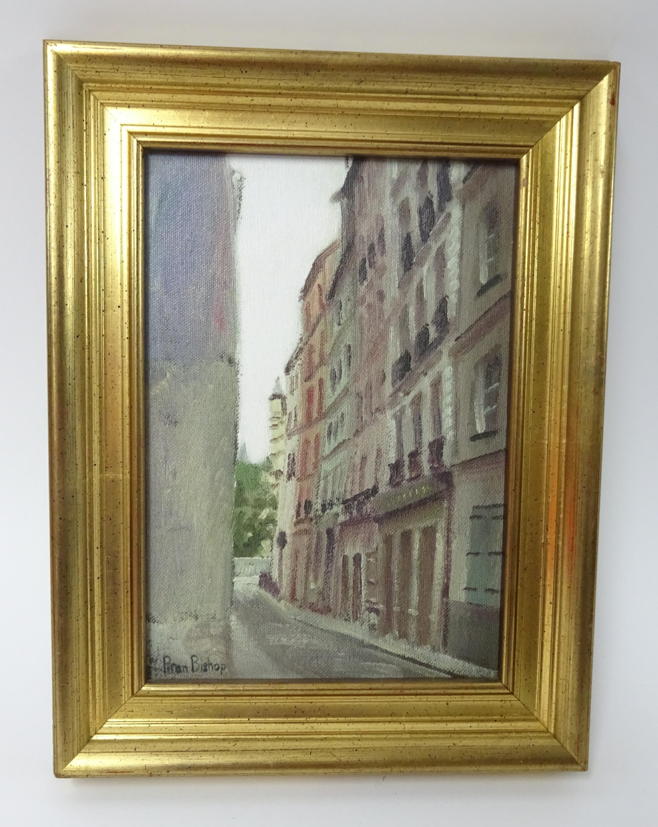 Lot 026 - Piran Bishop, print 'The Beat Hotel' 24cm x 16.5cm , framed.