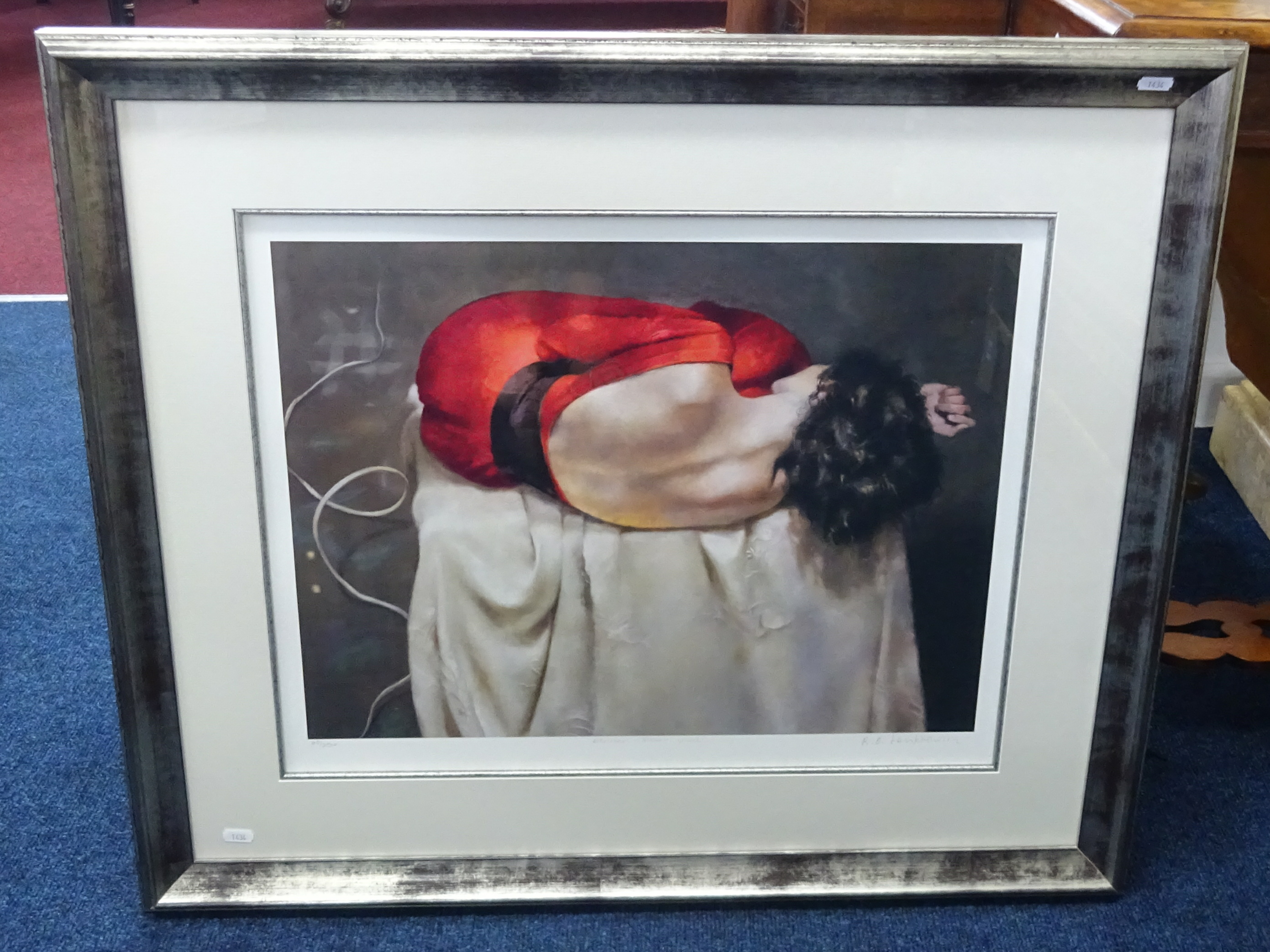 Lot 053 - Robert Lenkiewicz (1941-2002) 'Esther rear view', signed limited edition print number 60 of 250,