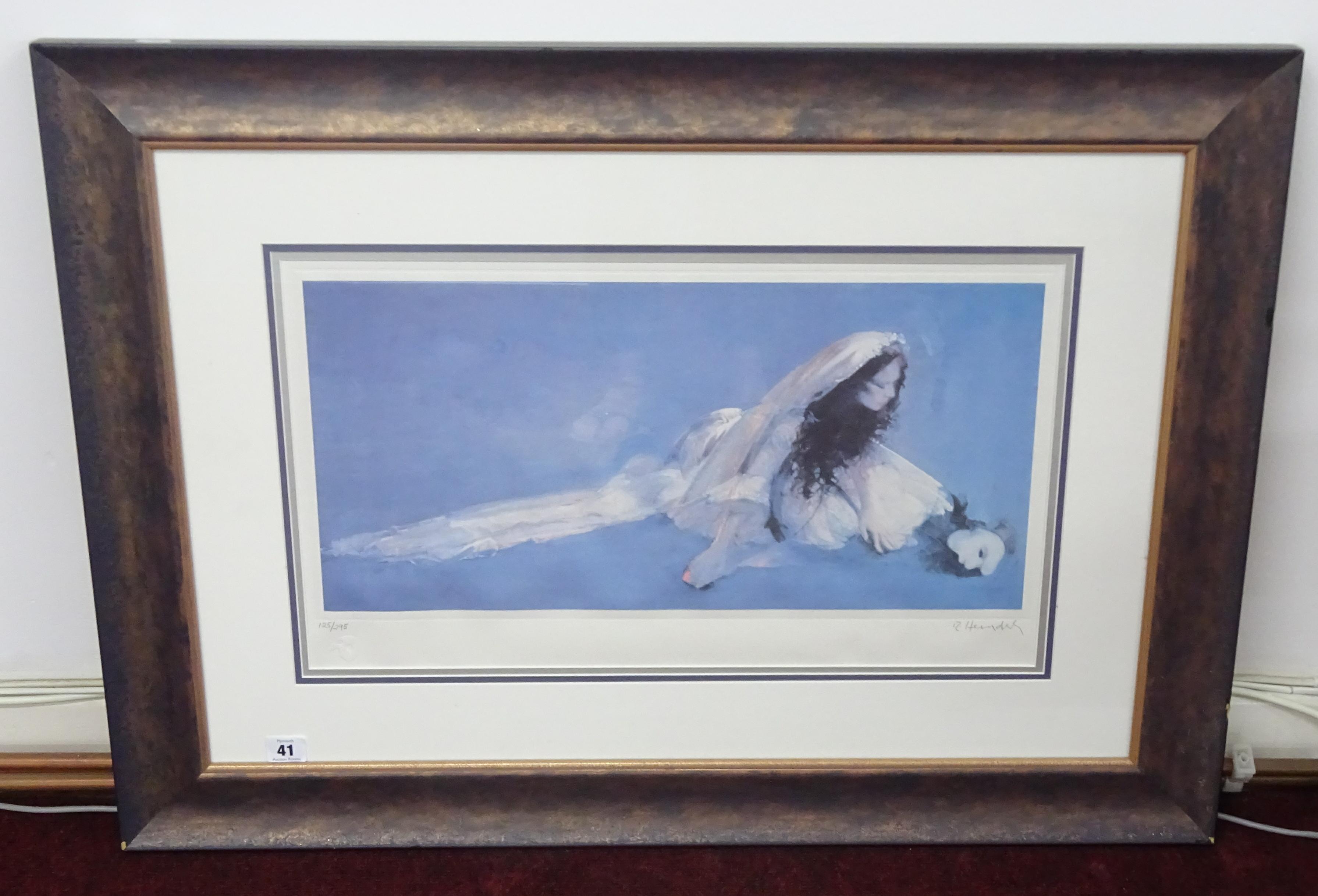 Lot 041 - Robert Heindel (American 1938 - 2005) signed limited edition print, number 125/295 untitled, 34cm