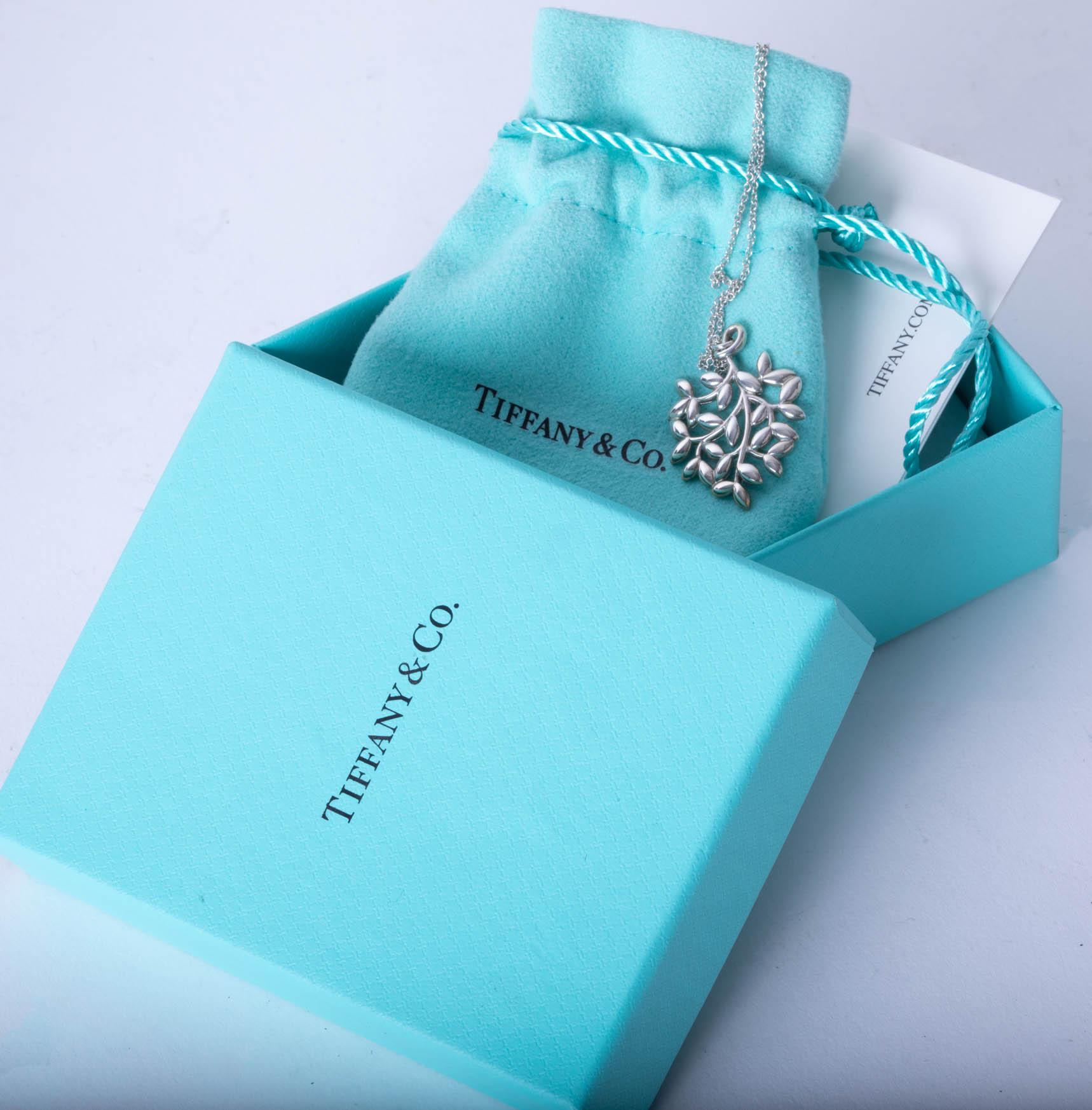 Lot 020 - A silver Tiffany & Co pendant, boxed.