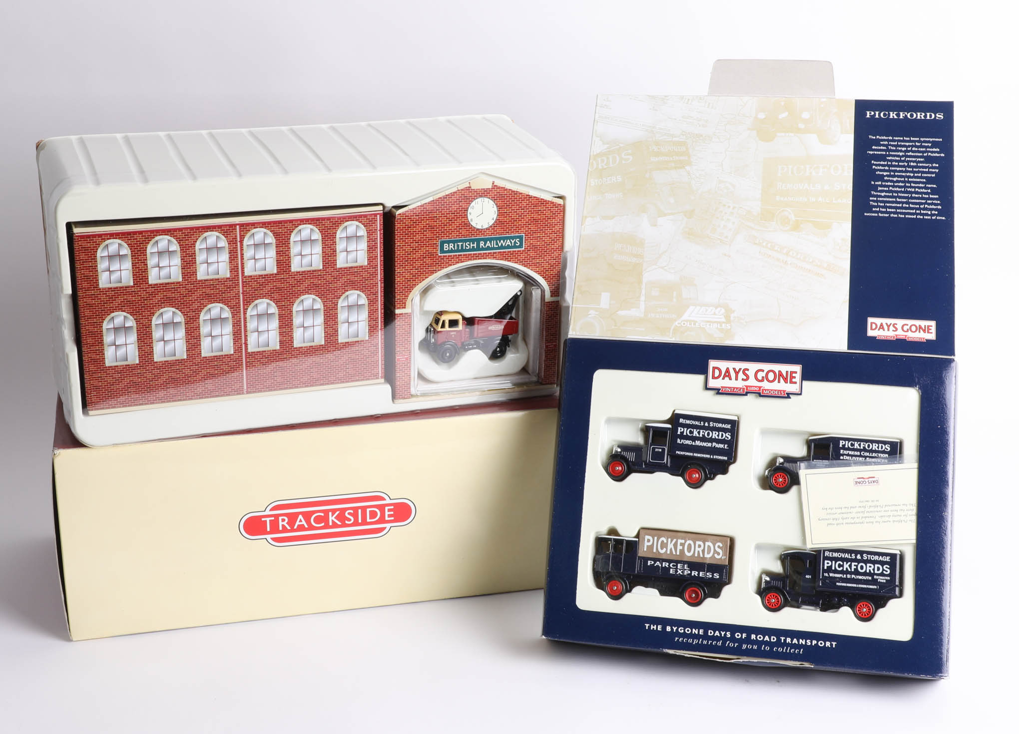 Lot 032 - Two Days Gone 'The Bygone Days of Road Transport' sets including a British Rail depot and A.E.C.