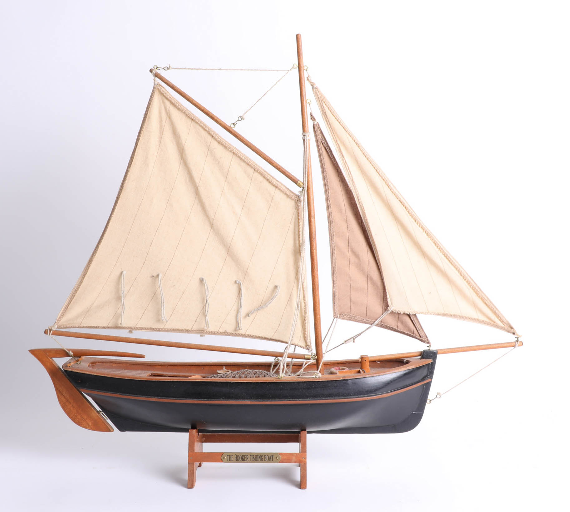 Lot 015 - A wooden model of the 'The Hooker' Fishing Boat.