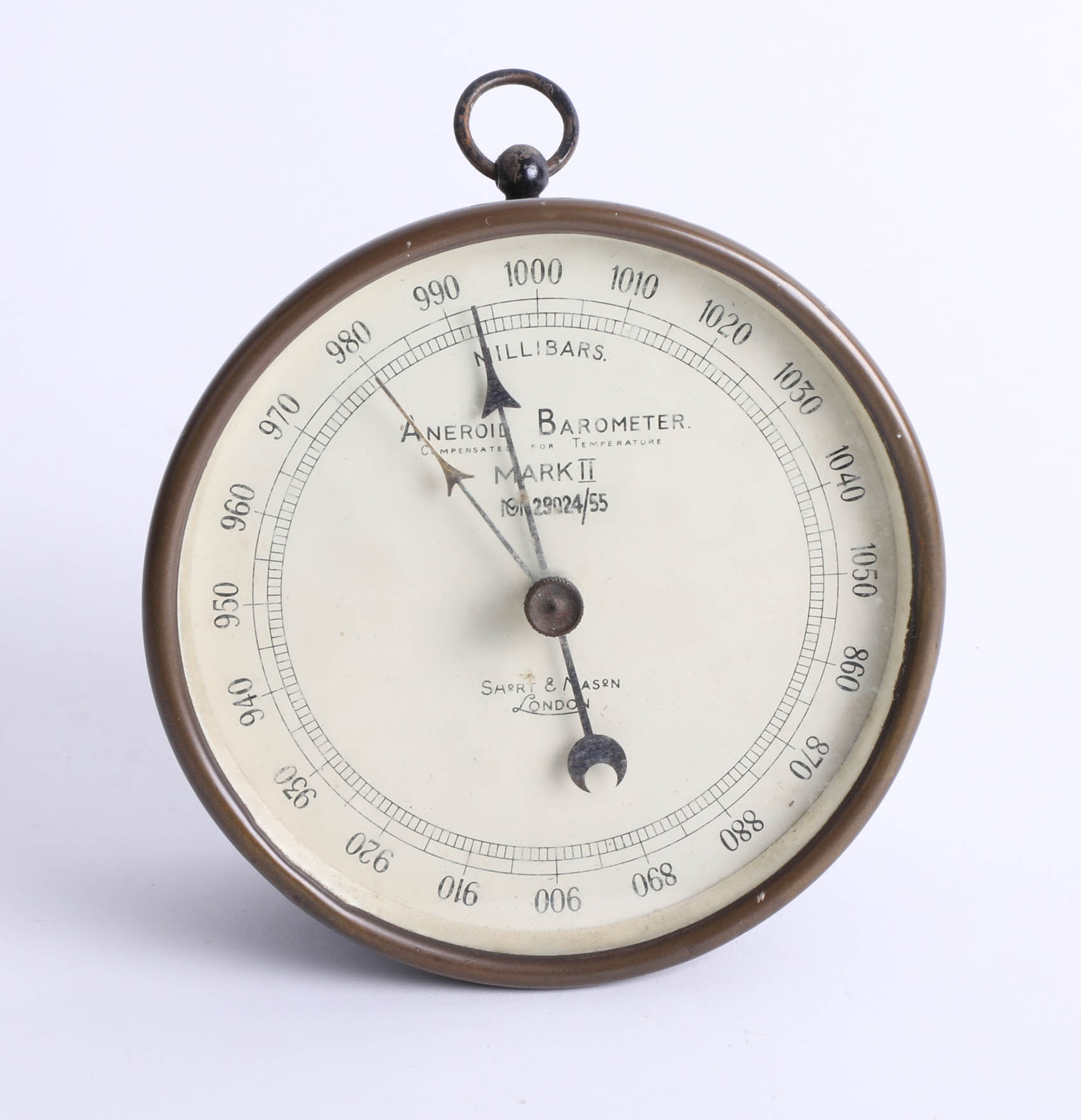 Lot 025 - A Short & Mason Mk. II aneroid barometer.