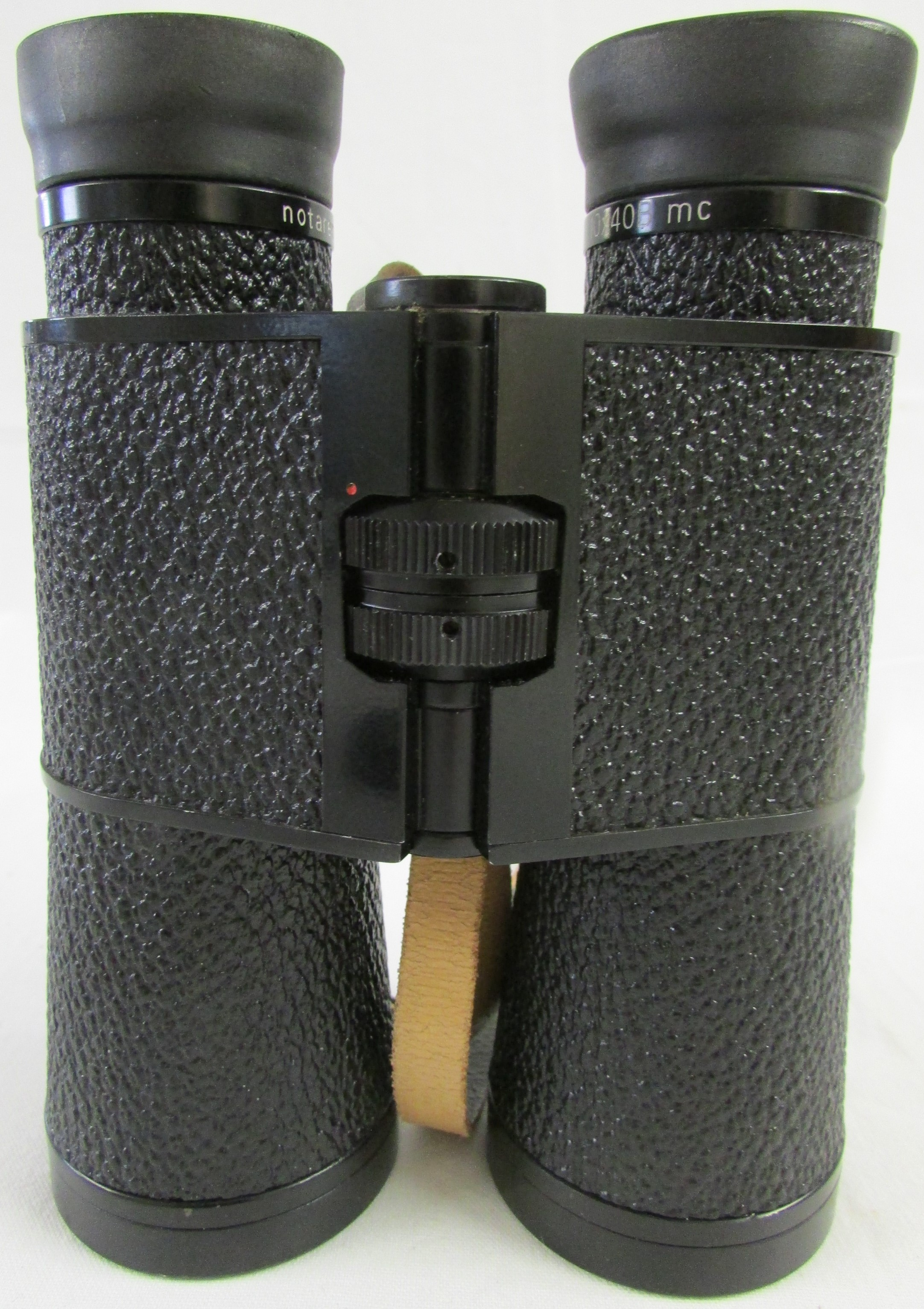 Lot 274 - Carl Zeiss 10 x 40B MC Notarem binoculars, with two yellow objective filters, and brown leather
